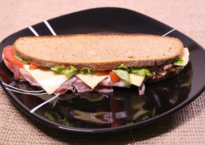 Пълнозърнест сандвич с прошуто